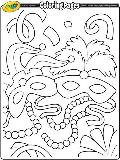 420x560 Mardi Gras Coloring Pages Mardi Gras Coloring Page Carnevale