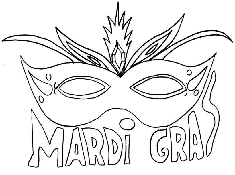 820x611 Mardi Gras Mask Coloring Page Mardi Gras Mask Coloring Page Darach