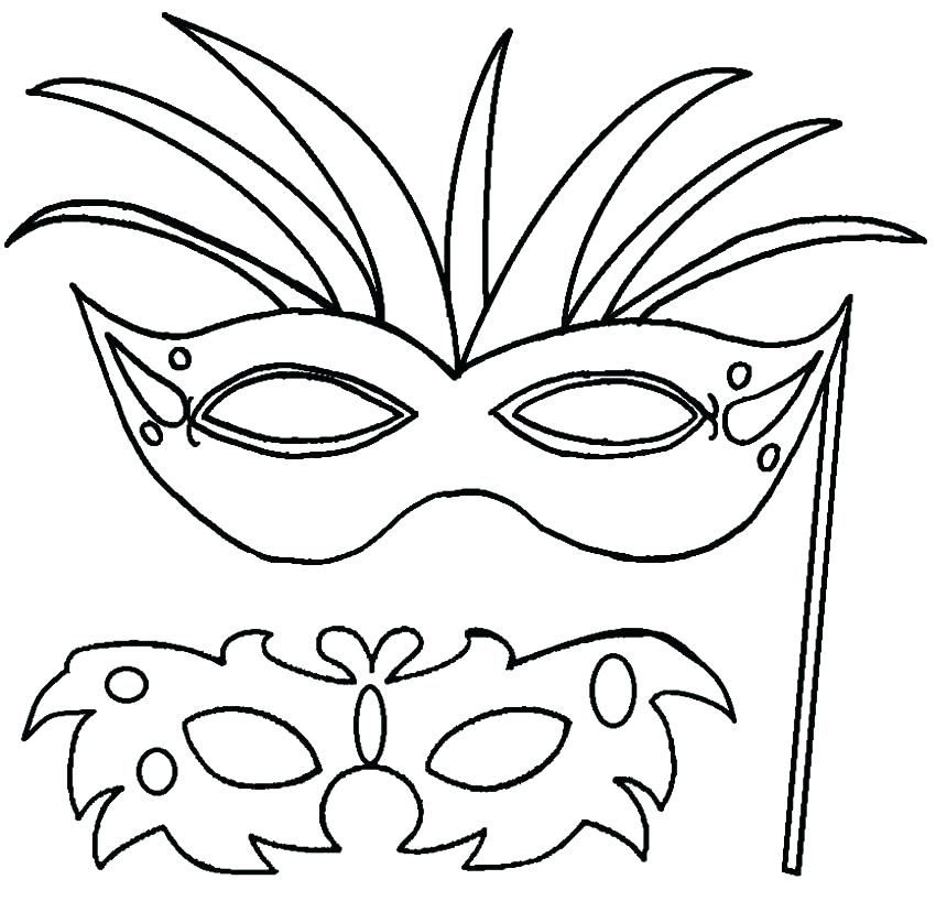850x828 Mardi Gras Mask Coloring Pages Elegant Masks Coloring Pages Image