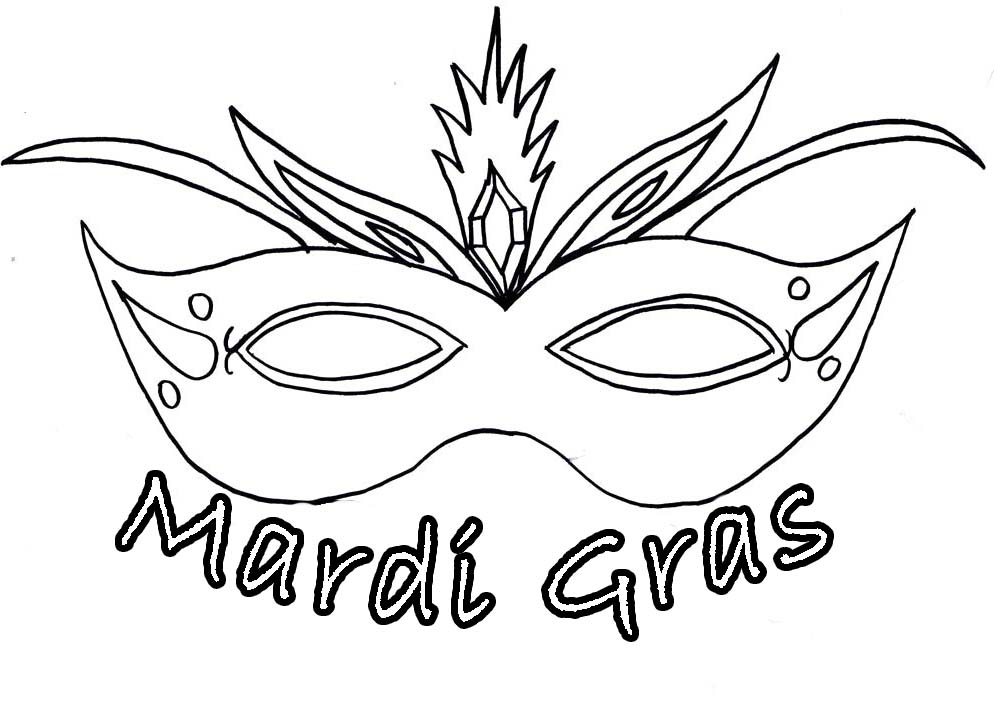 994x706 Mardi Gras Mask Coloring Pages For Kids