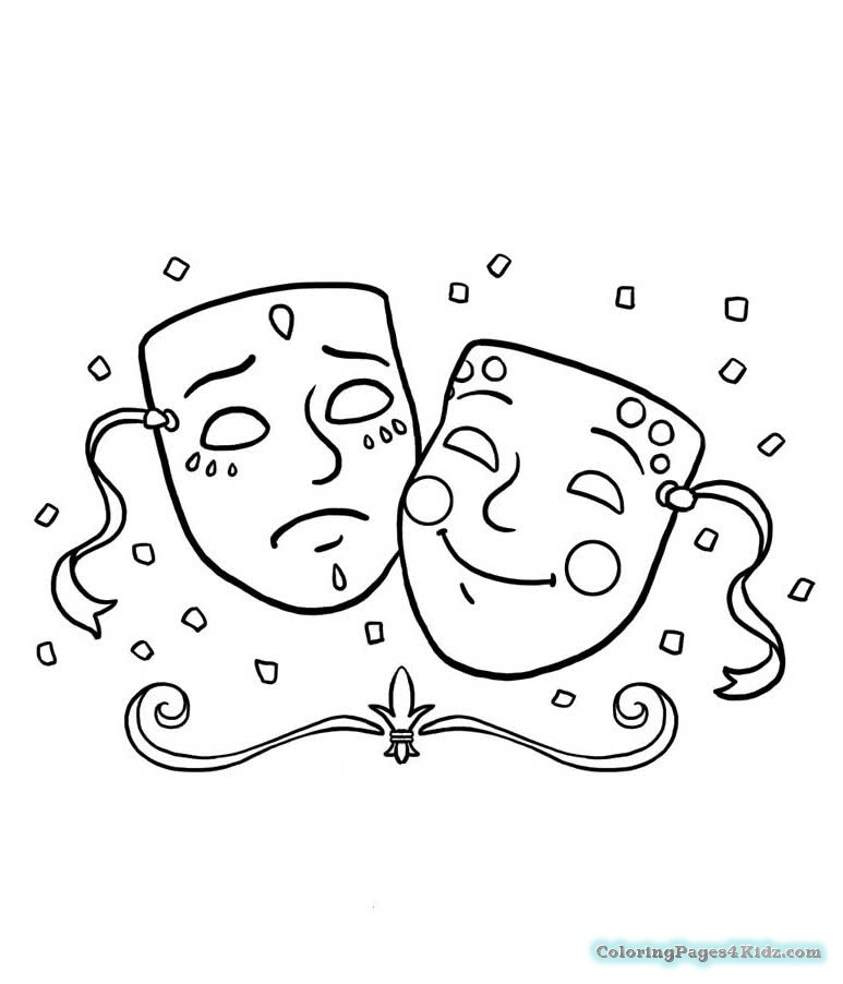 773x902 Mardi Gras Mask Printable Coloring Pages Coloring Pages For Kids