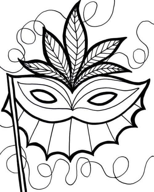 500x623 An Ethnic Mardi Gras Mask Coloring Page Mardi Gras