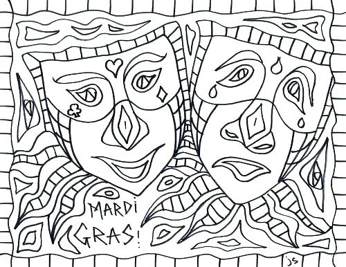 500x386 Mardi Gras Mask Printable Coloring Pages Masks Coloring Pages