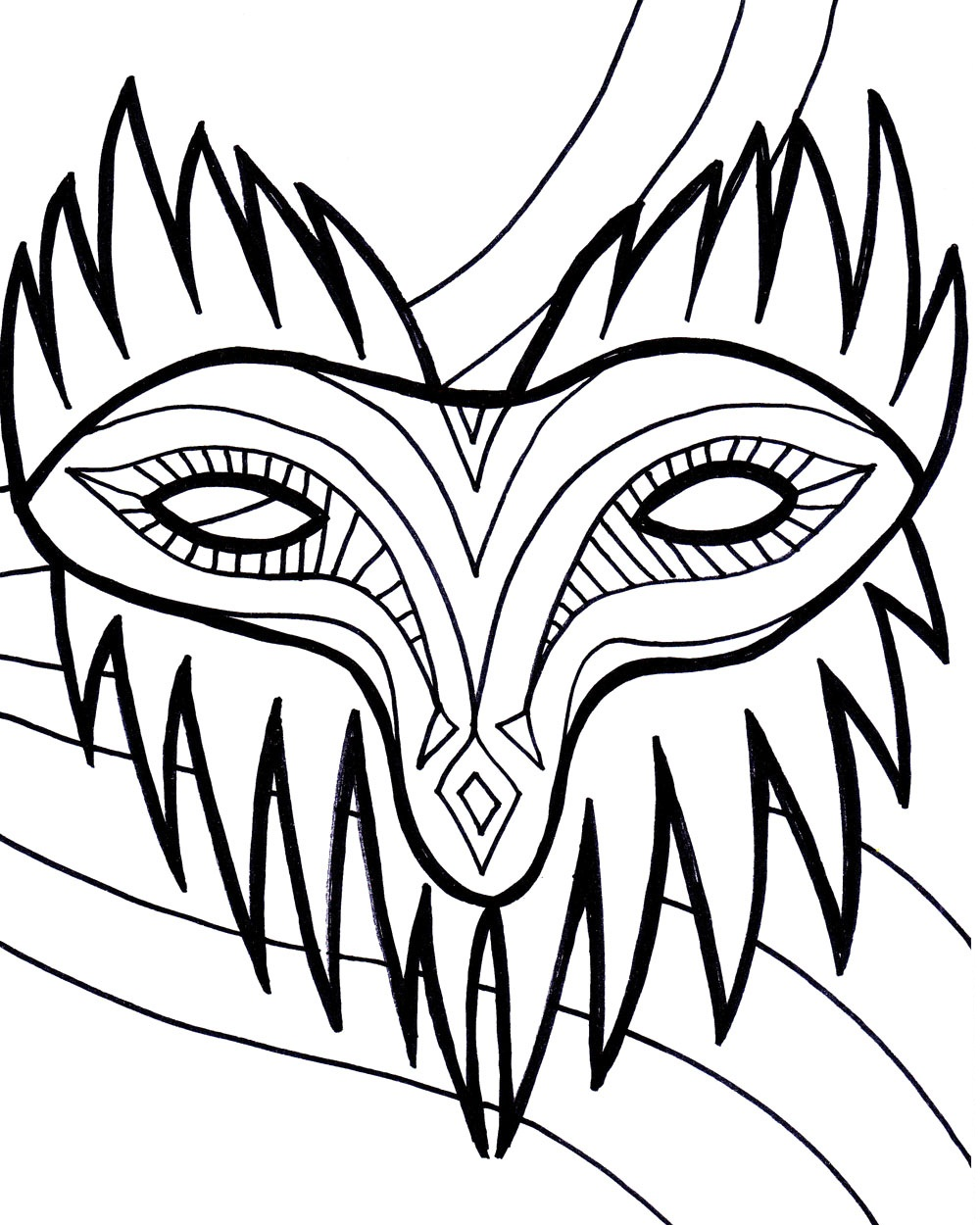 1000x1250 Mardi Gras Masks Coloring Pages