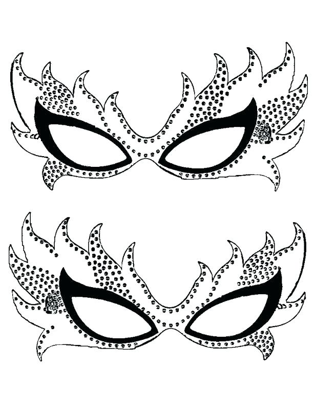 615x807 Mardi Gras Masks Coloring Pages Great Mask Coloring Pages Free
