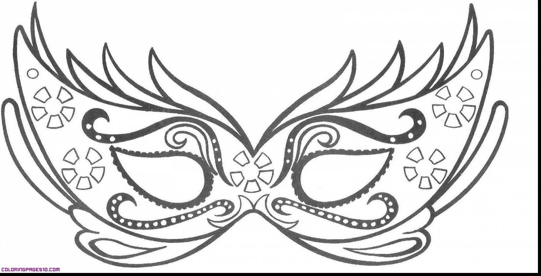 1760x900 Mardi Gras Masks Coloring Pages Impressive Carnival Masks Coloring