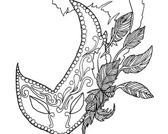 340x270 Masks Coloring Pages For Adults Cure Draw Page Mardi Gras Adult
