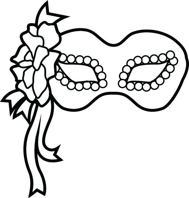618x647 Masks Coloring Pages Mask Template Coloring Pages Free Coloring