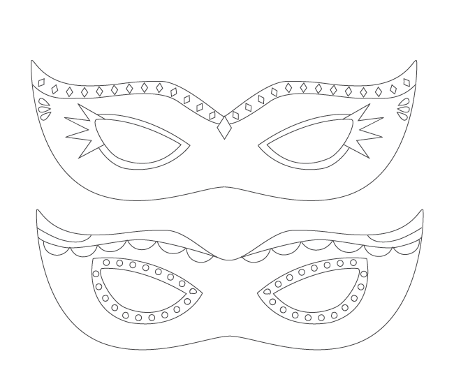 Mardi Gras Mask Coloring Page At Getdrawings Com Free For