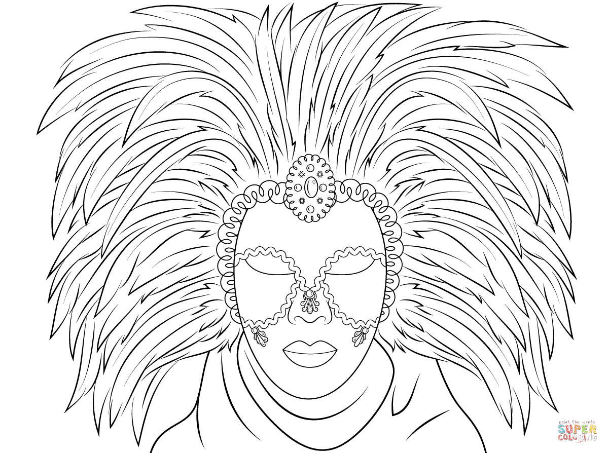1199x894 Venetian Mask Coloring Page Free Printable Pages Exceptional Mardi