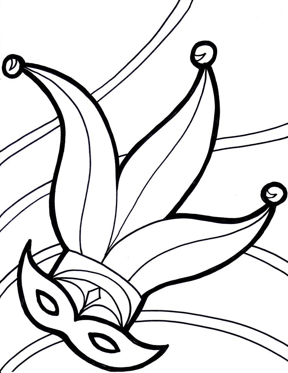 1000x1294 Free Printable Mardi Gras Coloring Pages For Kids