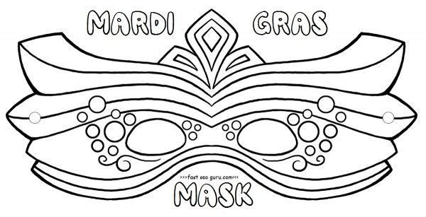 600x307 Free Printable Mardi Gras Mask Coloring Pages Crafts For Kids