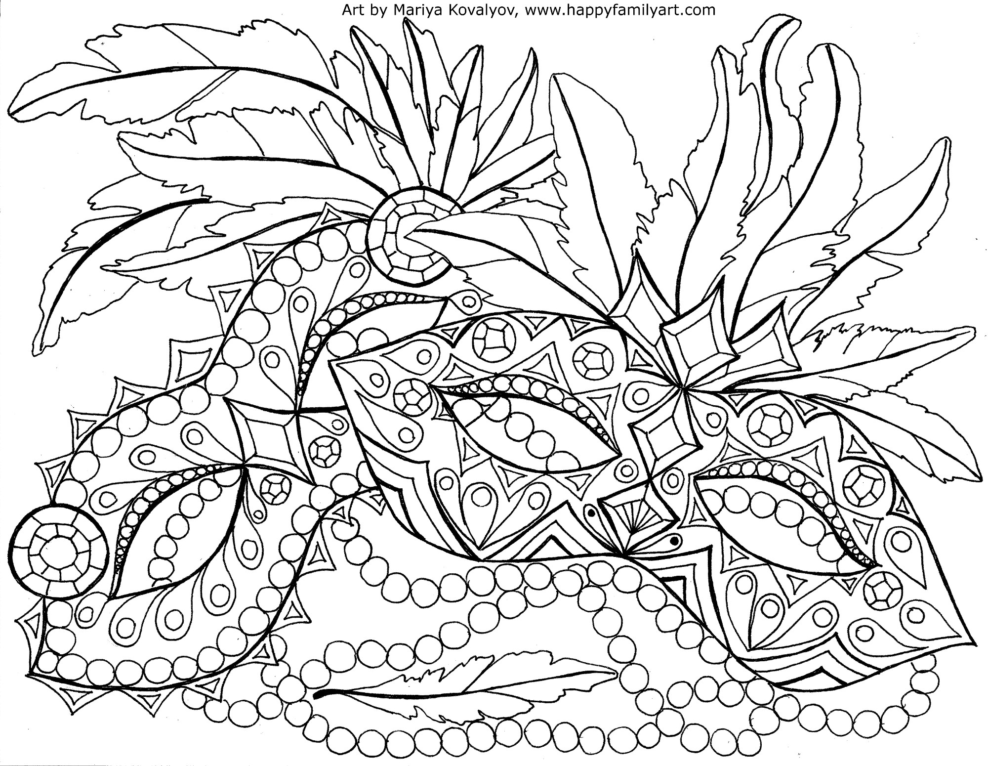 2000x1550 Mardi Gras Coloring Pages Page