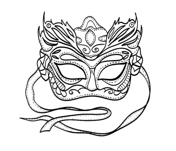 564x485 Mardi Gras Coloring Masks Mardi Gras Mask Coloring Pages To Print