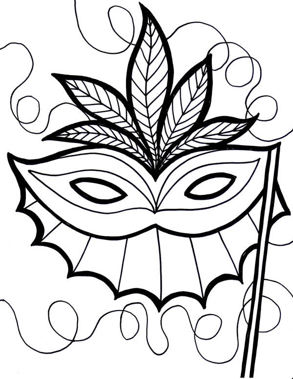 600x776 An Ethnic Mardi Gras Mask Coloring Page