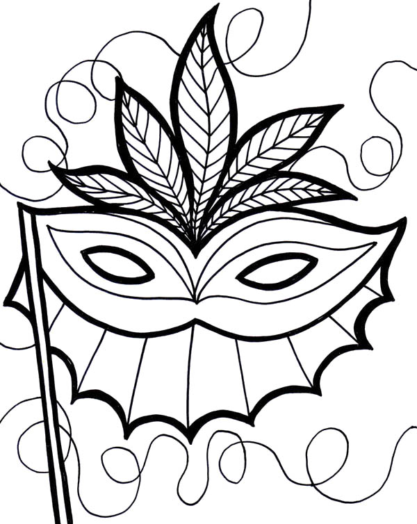 600x754 An Ethnic Mardi Gras Mask Coloring Pages Coloring Pages For All