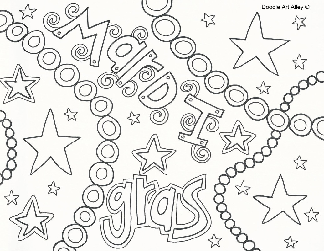 1035x800 Mardi Gras Coloring Pages