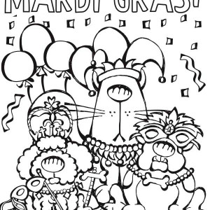 300x300 A Cute Little Girl On His Mardi Gras Costume Coloring Page A Cute
