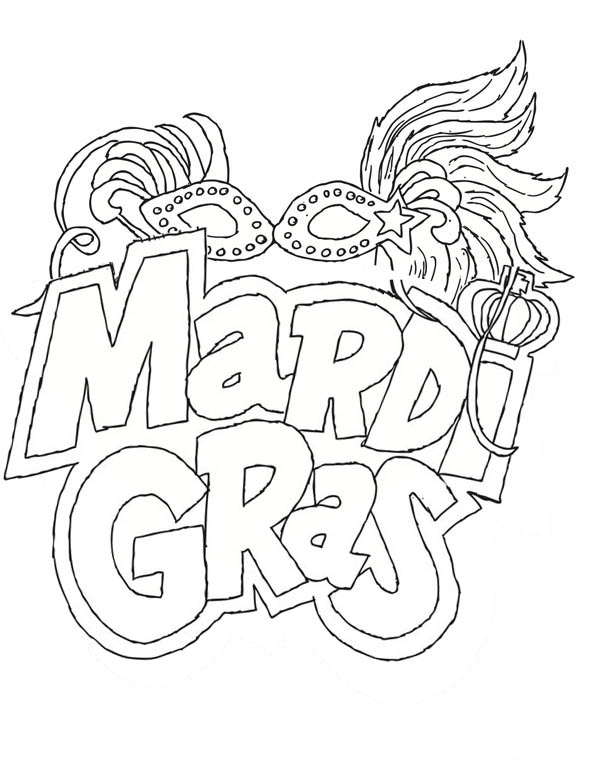 600x777 The Carnival Season Of Mardi Gras Coloring Page The Carnival