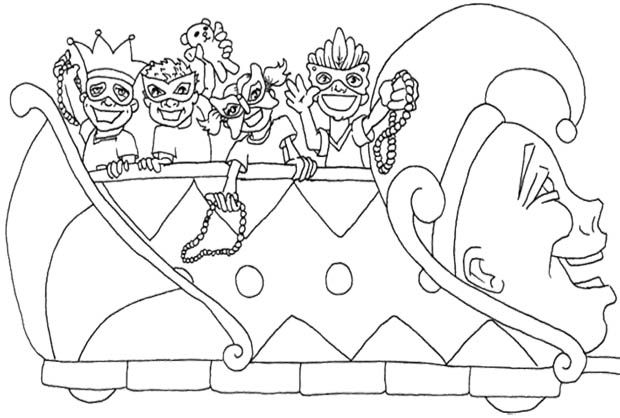 620x418 The Kids Happy Parade Mardi Gras Coloring Pages For Kids Kids