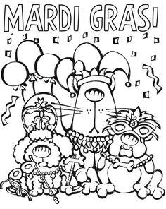 236x296 Cartoon Mardi Gras Dogs Mardi Gras Mardi Gras