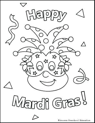 386x500 Impressive Design Mardi Gras Coloring Pages Mardi Gras Coloring