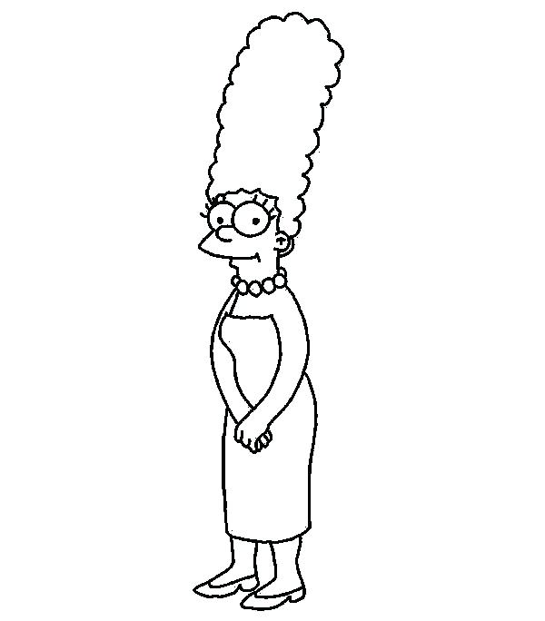 600x684 Coloring Pages Simpsons Coloring Pages Coloring Pages The Family