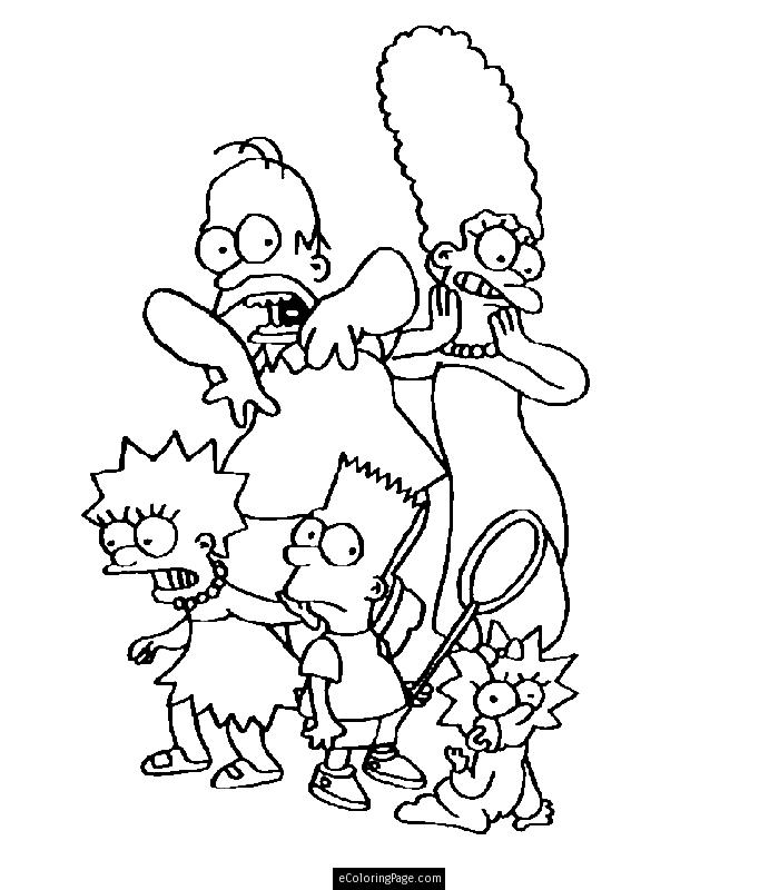 700x800 Marge Simpson Coloring Pages