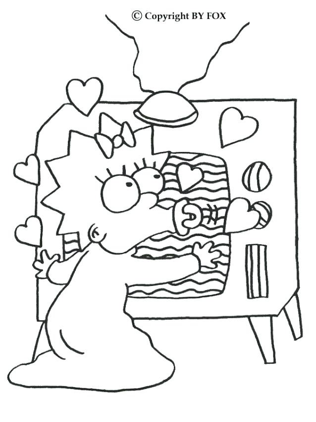 638x850 The Simpsons Coloring Pages Marge The Chef And The Coloring Page