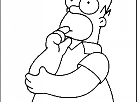 440x330 The Simpsons Family Colouring Pages