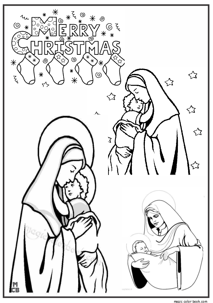 Maria Coloring Pages