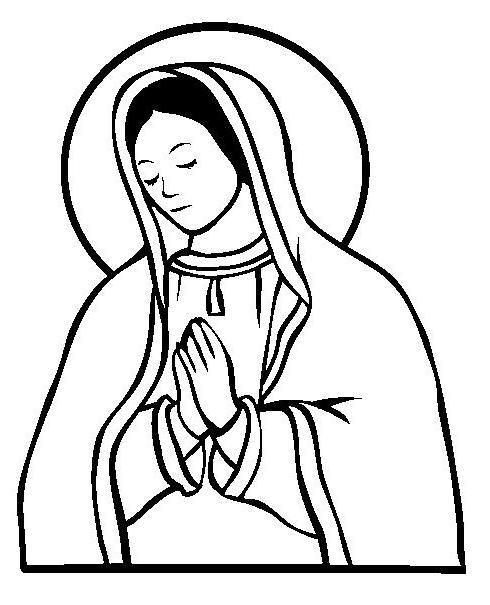 490x605 Virgin Maria Colouring Pages Embroidery Embroidery