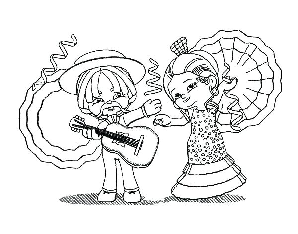 The Best Free Mariachi Coloring Page Images. Download From