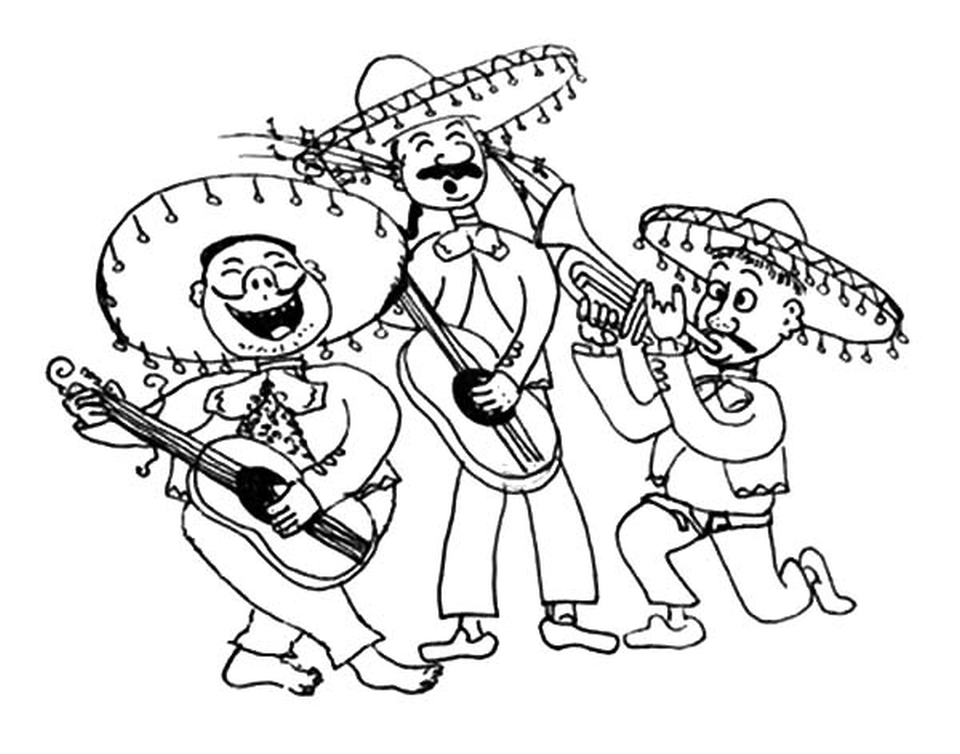 960x754 Get This Mariachi Band In Cinco De Mayo Coloring Pages !
