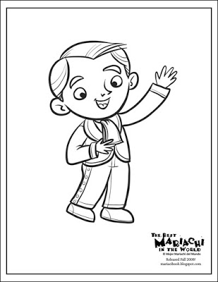 309x400 The Best Mariachi In The World Book News Coloring Page Gustavo