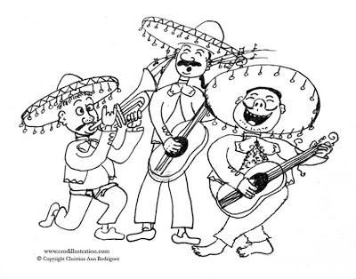 400x314 Crod Artblog Color Me Cinco De Mayo Mariachi Band