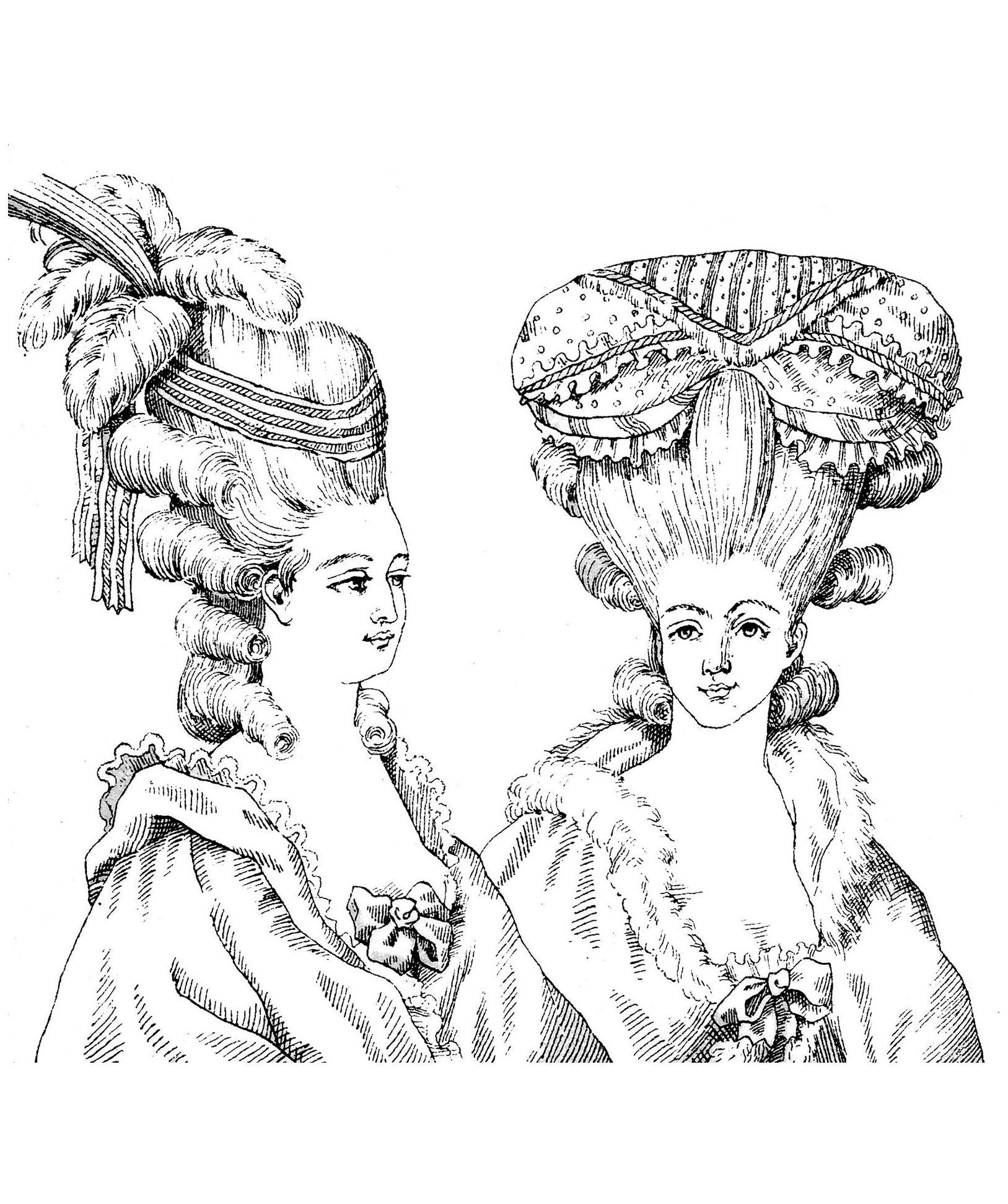 1627x1942 Hairdressing Style Marie Antoinette Illustration