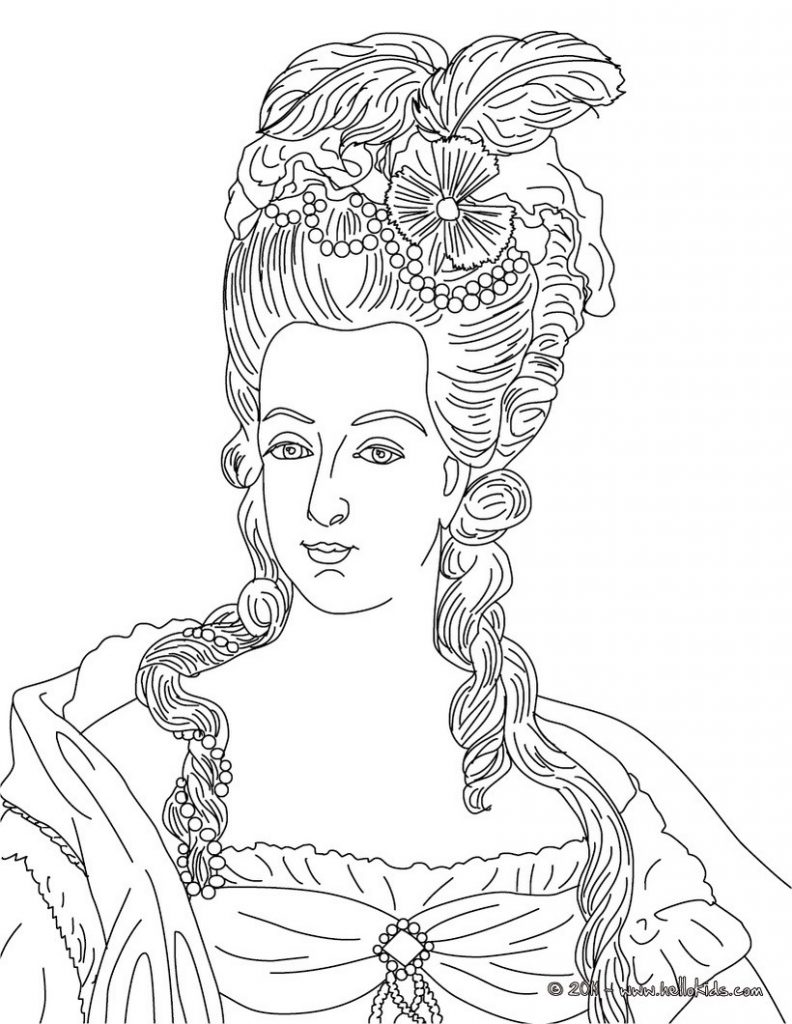 792x1024 Marie Antoinette Coloring Pages