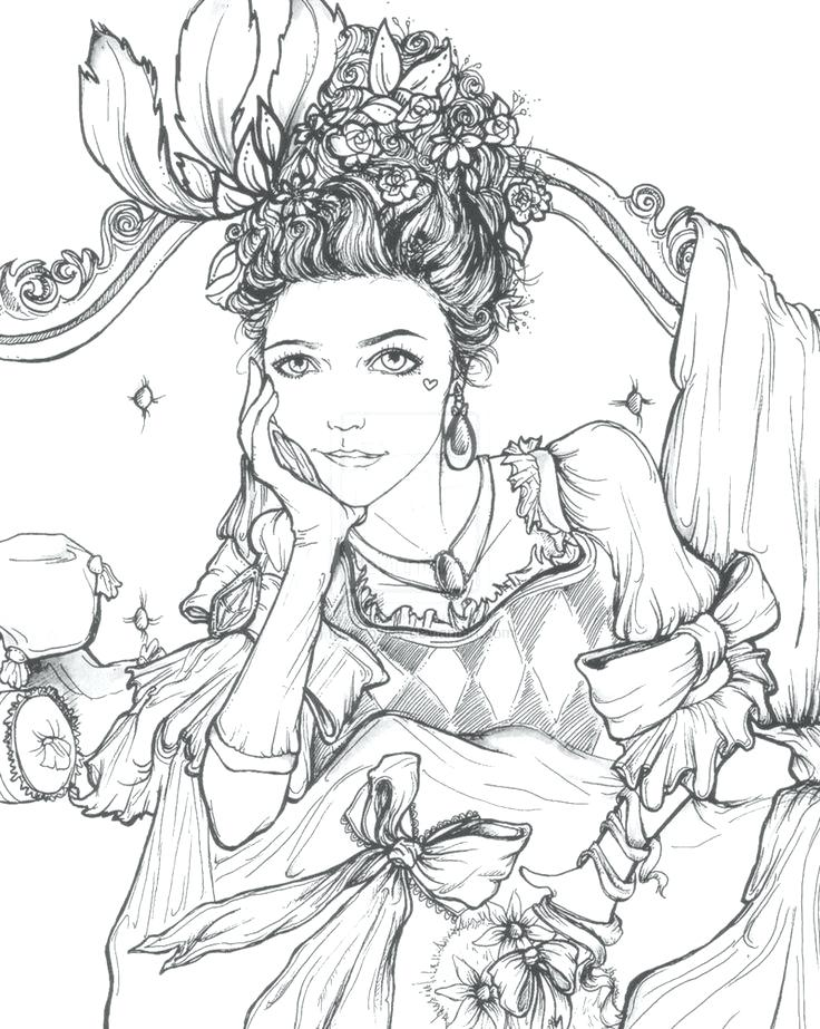 736x923 Marie Antoinette Coloring Pages Picture Of A Cute Dog Coloring