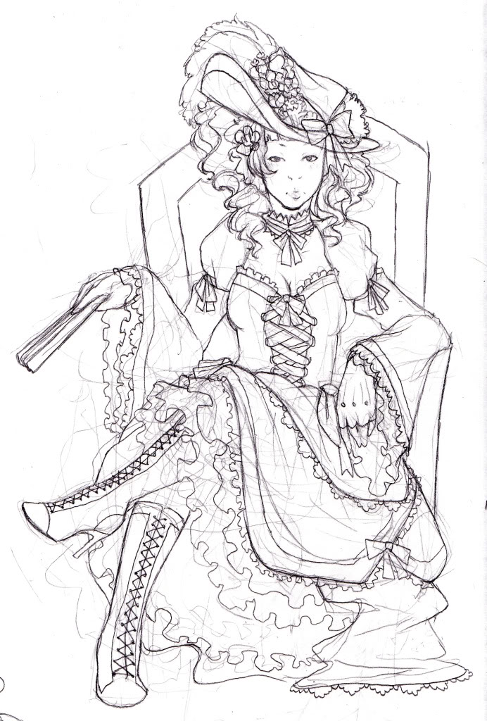 692x1024 Marie Antoinette Coloring Pages
