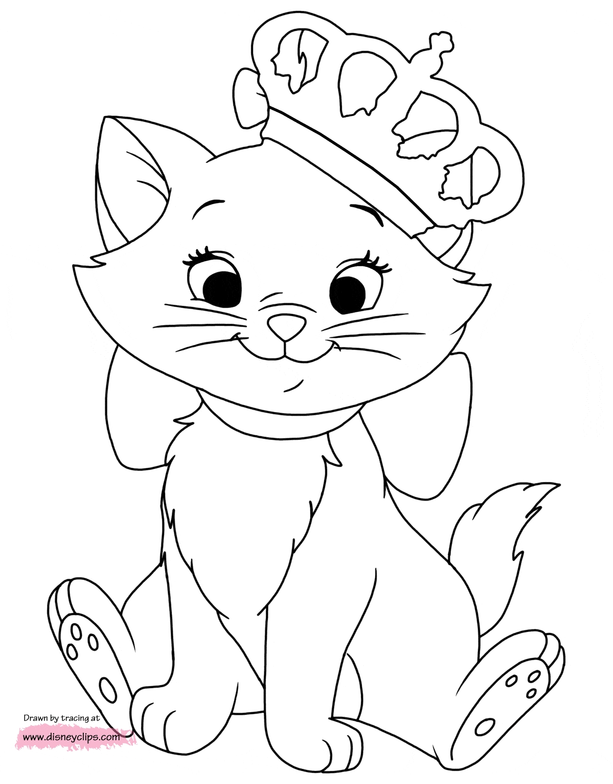 Marie Aristocats Coloring Pages