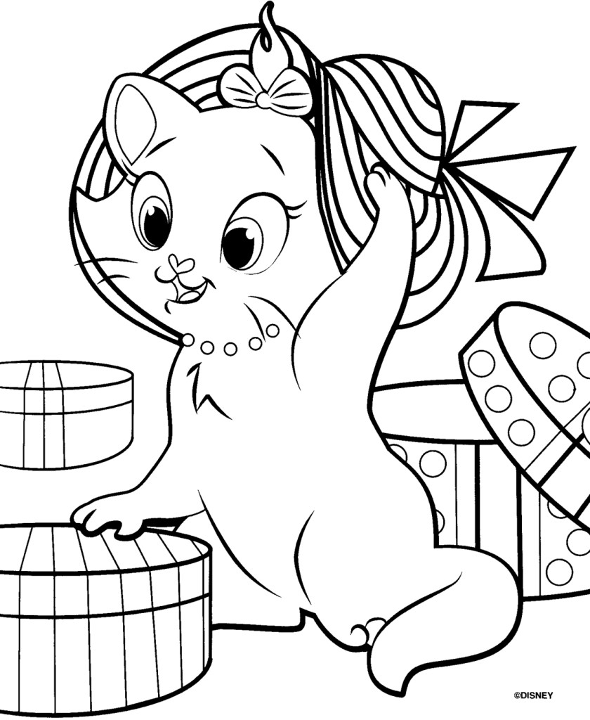 840x1024 Aristocats Coloring Pages Printable For Kids Striking
