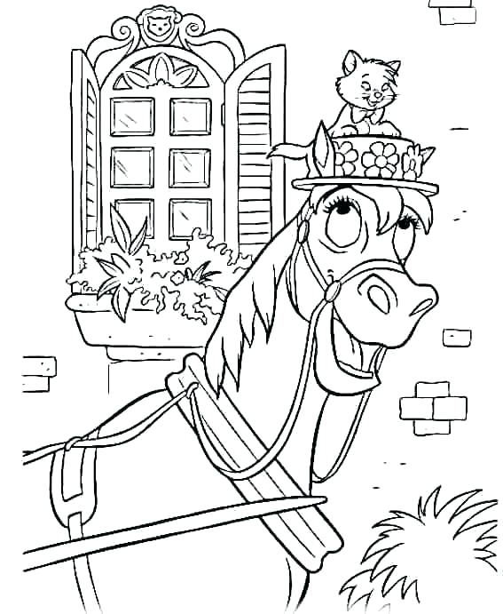 567x691 Aristocats Coloring Pages The Coloring Picture Aristocats Coloring