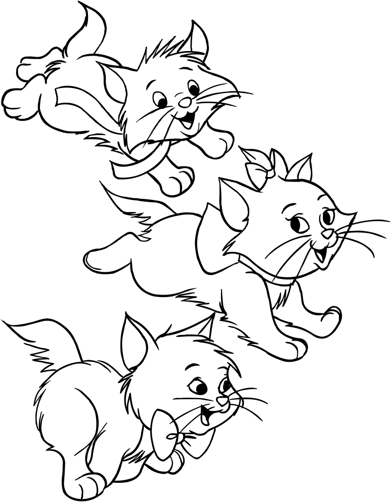 773x992 Marie, Berlioz And Matisse Of Aristocats Coloring Pages