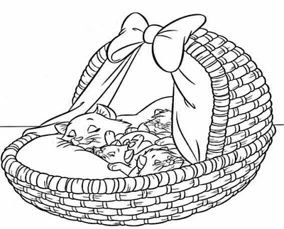 400x322 Sketches Of Disney Aristocats Coloring Pages