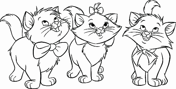 600x304 The Aristocats Coloring Pages Coloring Page Free Aristocats