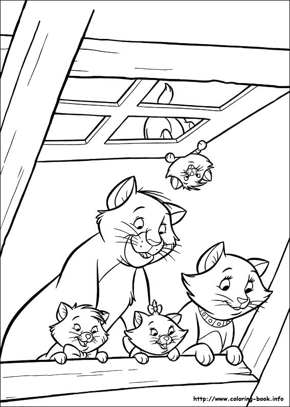 567x794 The Aristocats Coloring Pages The Coloring Picture Aristocats