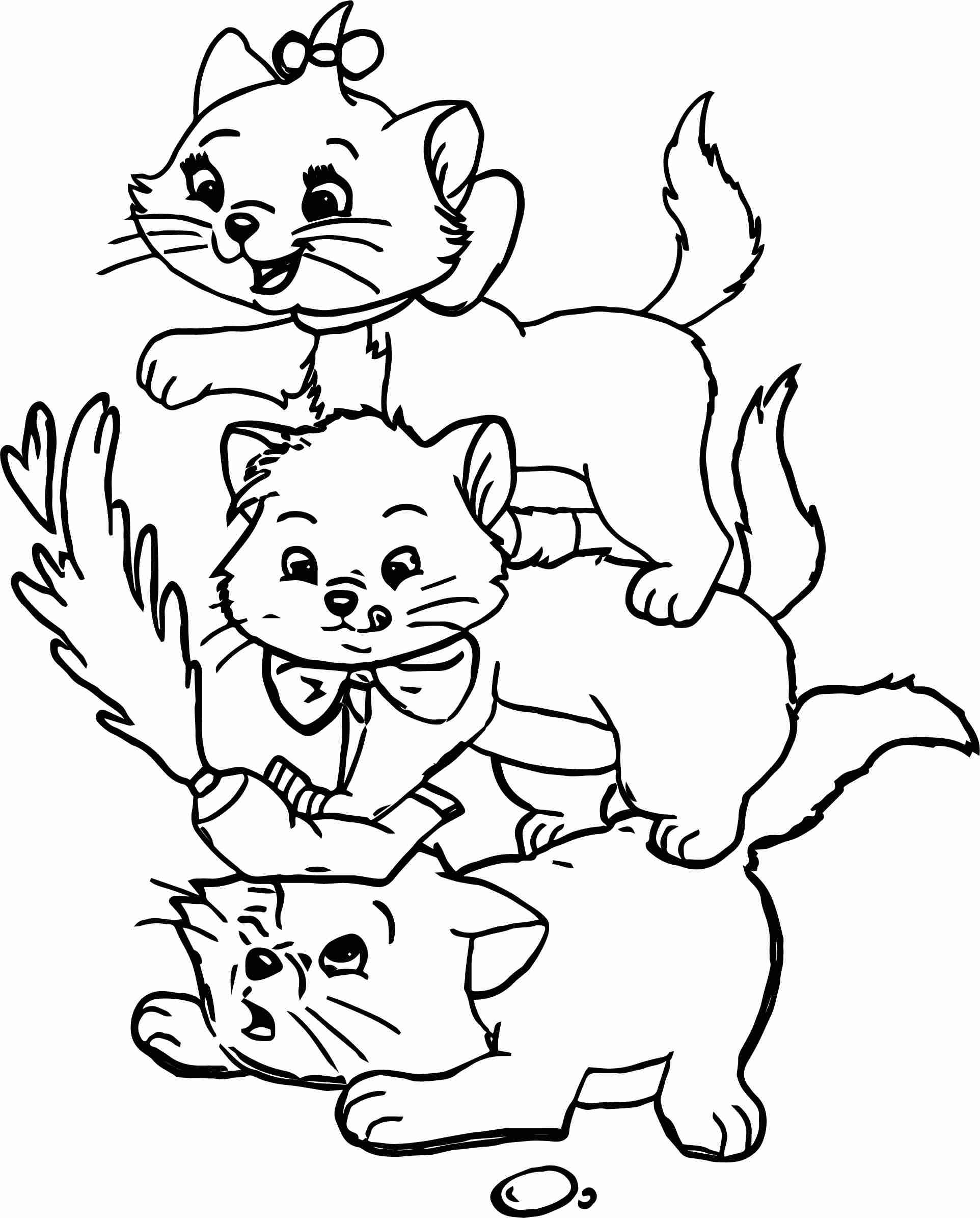 1924x2389 Three Kids Disney The Aristocats Coloring Page Wecoloringpage Best