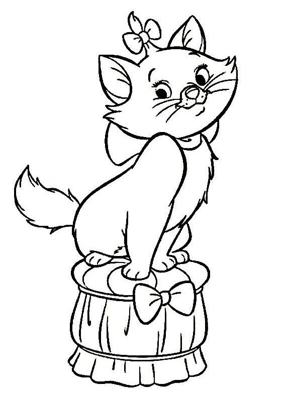 Marie Aristocats Coloring Pages At Getdrawingscom Free For
