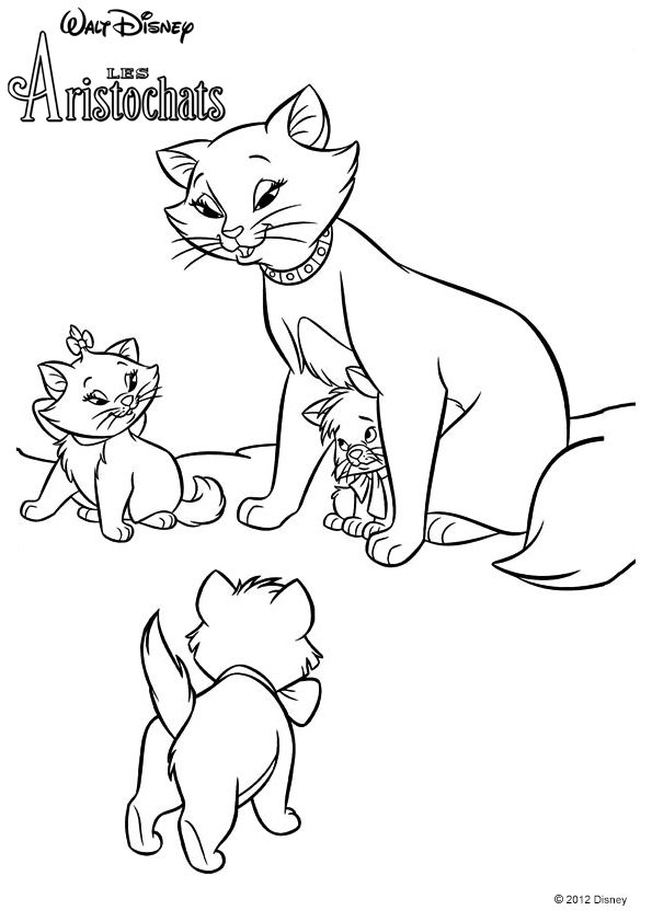 595x842 Aristocats Coloring Pages Images Adul On Coloring Pages Images